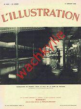 L'illustration n°4845- 11/01/1936 Inondations Poitiers Éthiopie Cuba art chinois