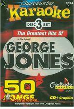 CHARTBUSTER KARAOKE CDG  GEORGE JONES (5074)  3 DISC BOX SET  50 TRACKS   NEW