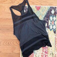 ALO Yoga Black Mesh Blend Tank No Size Tag (Medium?)