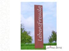 """Edelrost Gartenstele/Gartenstecker """"Lebensfreude"""", H=120 cm"""