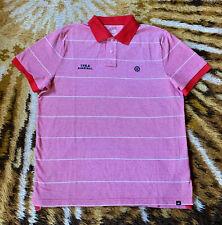 Nike Russia Cska Basketball Red Striped Russian Polo Shirt - Men's Size Xl