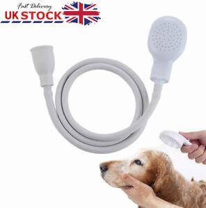 Single Mixer Tap Bath Sink Shower ABS Head Hose Spray Hairdresser Pet Push On UK
