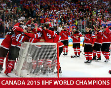 Team Canada - 2015 IIHF World Champions - 8x10 Color Photo