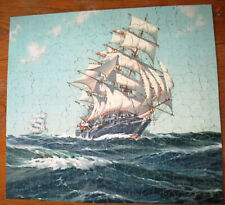 Vintage Perfect Picture Puzzle #202 Bounding O'er The Billows Complete,1940s