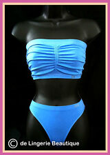 Ladies Strapless Boob Tube Bra Bandeau Top & Thong Set 10/12-14/16  ONLY £6.99