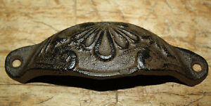 12 Cast Iron Antique Victorian Style OVAL Drawer Pull, Barn Handle, Door Handles