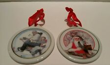 """Norman Rockwell Porcelain """"Gramps At The Reins & Santa'S Ornaments. Jcpenney"""