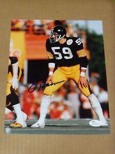 "Jack Ham, Pgh Steelers, Signed 8"" x 10"", Game Photo, JSA COA"