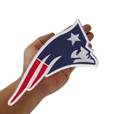 """New England Patriots Nation Logo Large Size 10.0""""x5.0"""" Embroidered Iron on Patch"""