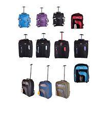 Ryanair Easyjet Cabin Wheeled Hand Trolley Suitcase Luggage Case & Backpack Bag