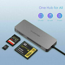 LENTION USB C to SD/Micro SD CF Memory Card Reader OTG Adapter for Galaxy S10 S9