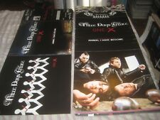 THREE DAYS GRACE-ONE X-1 POSTER FLAT-2 SIDED-12X29 INCHES-NMINT-RARE!!!!!