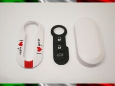 Cover Key+Buttons Rubber Case Remote Control Fiat Lancia Shell I Love You N