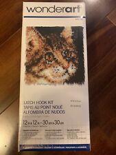 New listing Brand New Wonderart Latch Hook Kit Tabby Cat 426190 Kitten 12 x 12