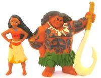 *MOANA & MAUI 2 Figure Set DISNEY Movie PRINCESS PVC TOY Cake Topper FIGURINE!*