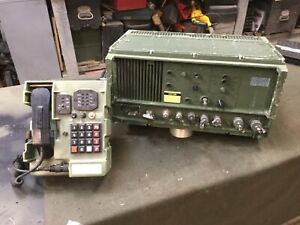 Military Radio Telephone Set Transceiver With Handset Unit.