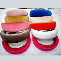 Women's Velvet Headband Padded Hairband Wide Hair Hoop Accessories Headpiece