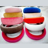 Women's Velvet Headband Padded Hairband Wide Hair Hoop Accessories Headpiece