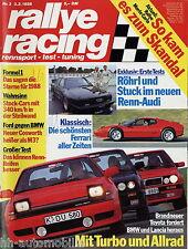 Rallye Racing 3/88 1988  Sierra Cosworth BMW M3 325iX Celica Turbo 4WD Galant