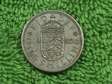 GREAT  BRITAIN   1 Shilling   1955   ENGLISH  *