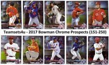 Carte collezionabili baseball Bowman Chrome stagione 2017