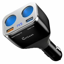 Expansión de mechero de coche USB adaptador de alimentación de carga rápida GPS Dash Cam 80w