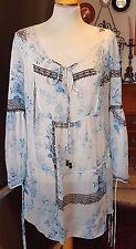 Blumarine Sheer 100% Silk  Lovely Tunic/ Top /Dress/Galabya ~New