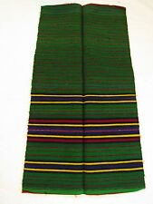 Antique Ethnic Macedonian Folk Art Costume Embroidered Woven Wool Apron Striped