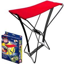 Chaise pliante de poche rouge (folding camping pocket chair)