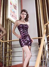 Black & Purple Sequin Bandeau COCKTAIL/PARTY/TOWIE/ DRESS SZ 8/10.. PETITE