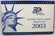 Proof set 2003-S with  5 state quarters. Ten coins tota Nice in original package