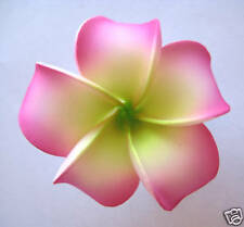 Hawaiian Hawaii Bridal Wedding Party Favor QTY ( 2 ) Plumeria Flower Hair Clips