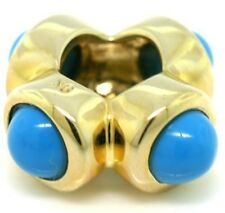 Wizard Turquoise 9K 9ct Solid Gold Bead Charm FITS EURO BRACELETS 30 Day Return