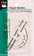 DRITZ 7-REPAIR NEEDLE SET ~ Rug Hooking, Cording, Upholstery, Purse Making, Etc.