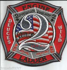 "Charlotte  Engine-2  ""Deuces Wild - South End"", NC (4"" x 4"" size) fire patch"