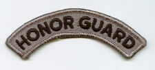 ARMY SHOULDER TAB SSI HONOR GUARD ACU BLACK ON GREY COLOR #1