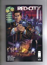 RED CITY #1 - 1st PRINTING - STEVE DOWNER COVER - MARK DOS SANTOS ART - 2014