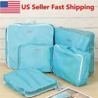 5pcs Pouch Bag Suitcase Clothes Storage Travel Packing Luggage Organizer  ~