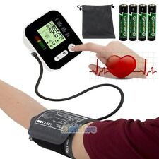 Push Button Automatic Upper Arm Blood Pressure Cuff Monitor in Case + Batteries