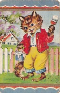 Coles Swap Card - Cat with a paint brush