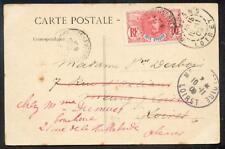 Cote Divoire 1909 carte postale BASSAM (h5272a