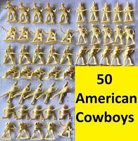 Vintage Airfix 51465 Plastic 50 Soldier 1:32 American West Series Cowboy