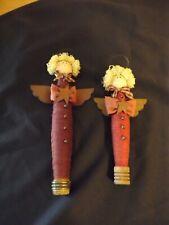"""handmade Angels On Vintage Spools handpainted U Choose 9"""" Or 11"""""""