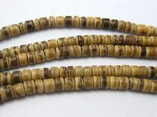 """5 Strands of 16"""" Natural Coconut Rondelle Beads 5mm Jewelry Making"""