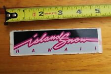 Island Snow Hawaii Surfboards Shave Ice Neon Pink V6 Vintage Surfing Sticker