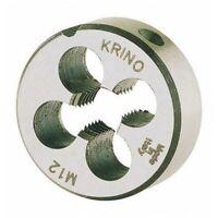 FILIERA PER FILETTARE PASSO MA da M3 a M12 KRINO acciaio filettatura metrica ISO