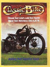CLASSIC BIKE - Winter 79 - 1979 - 350cc AJS 7R & 500cc Matchless G50