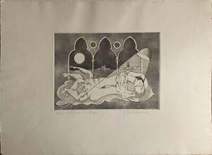 Bonciani Adorno incisione acquaforte  Matrimonio a Venezia III  50x70 numerata