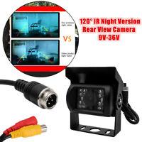 120° 12V/24V 18 LED IR CCD Caméra de Recul Vision Arrière Nocturne Auto Camion