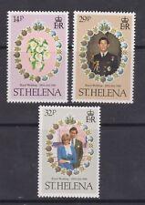 1981 Royal Wedding Charles & Diana MNH Stamp Set St Helena SG 378-380